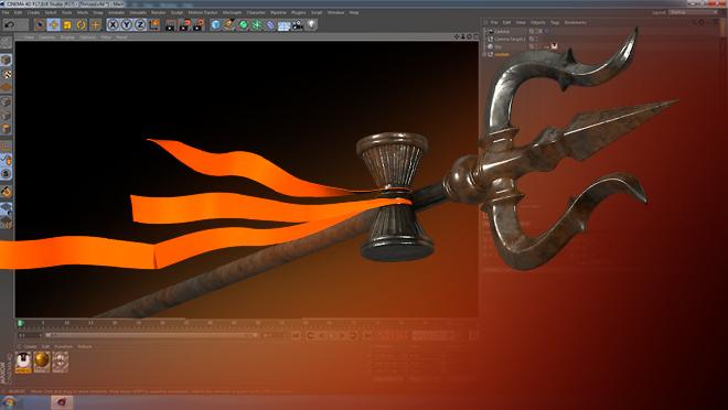 Trishul 3D Model