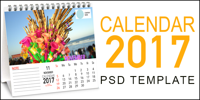 INDIAN TRADITIONAL DESK CALENDAR 2017 PSD TEMPLATE (22″x17″) FREE DOWNLOAD