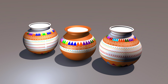 Pongal Pot Different shapes 3D MODEL FREE DOWNLOAD