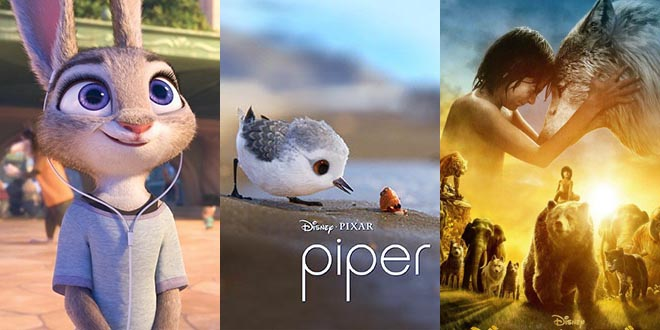 """""""Piper"""" ,""""Zootopia"""" and The jungle book wins award – the 89th Academy Awards"""