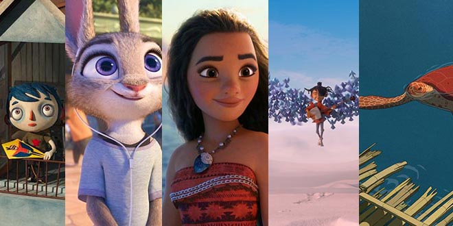 89th Oscar Nominees for Best Animated Movies