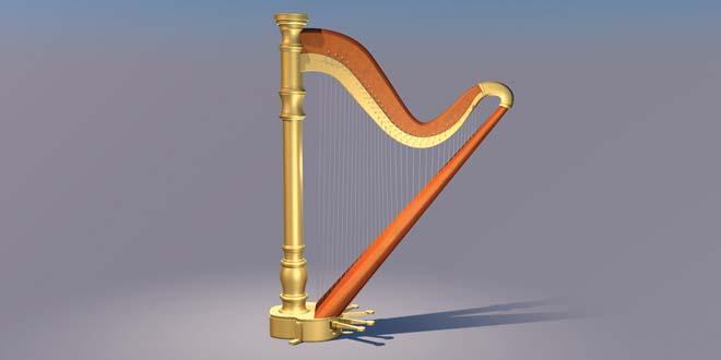 Arfa instrument (Yazh – யாழ் இசைக்கருவி) 3DS Model FREE DOWNLOAD