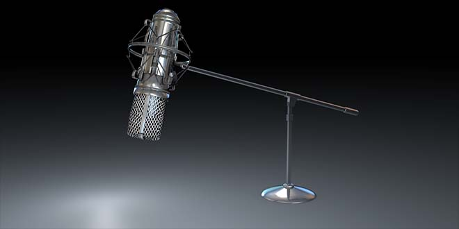 Retro Mic 3ds Model FREE DOWNLOAD