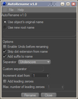 AutoRename – Free plugin for cinema 4d