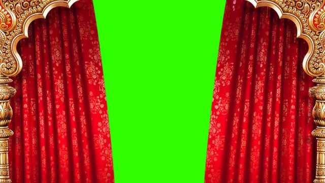 screen  cloth open green screen