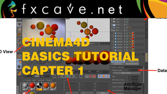 Cinema4D Basics Tutorial Capter 1