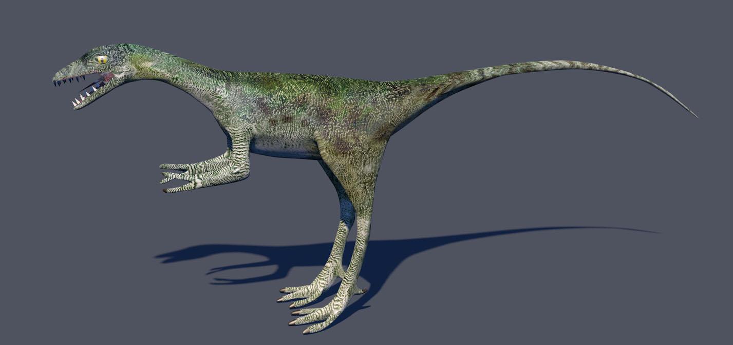 green dinosaour