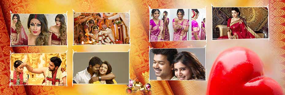 Saree Design Wedding Album PSD Template 02