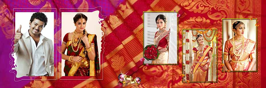 Saree Design Wedding Album PSD Template 03