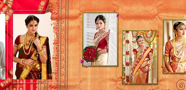Saree Design Wedding Album PSD Template 08