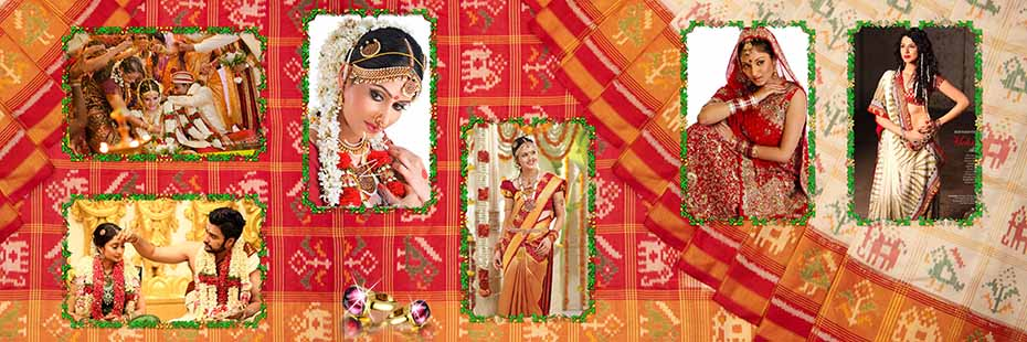 Saree Design Wedding Album PSD Template 010