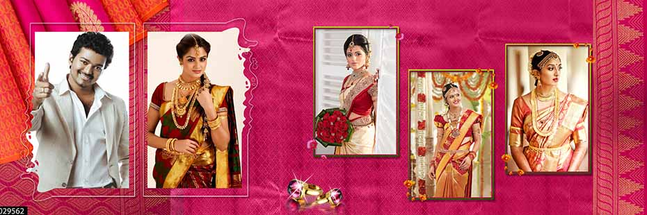 Saree Design Wedding Album PSD Template 011