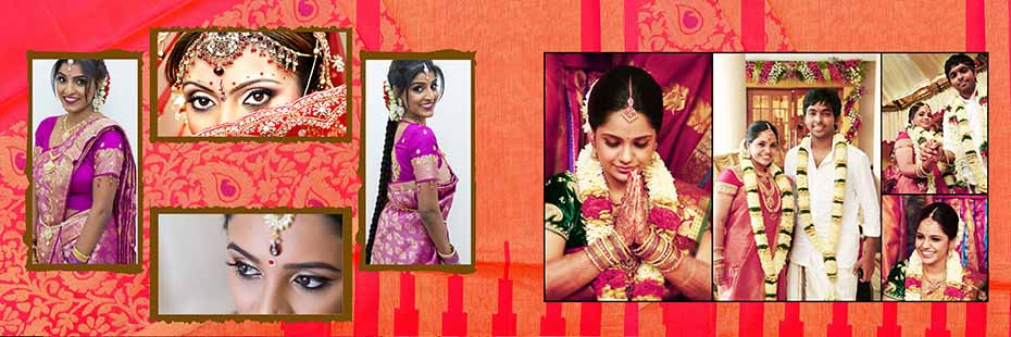 Saree Design Wedding Album PSD Template 012