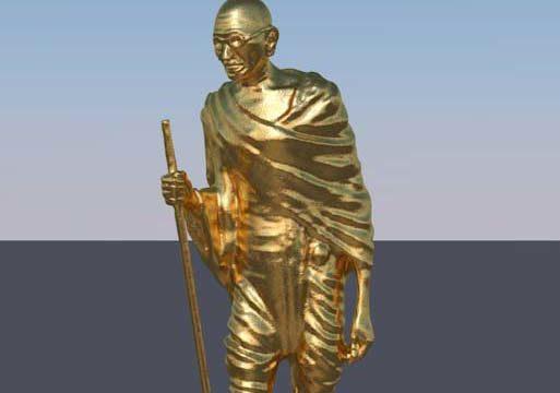 Mahatma Gandhi c4d