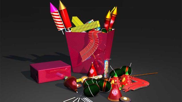 Diwali Crackers Gift Box C4d Model Free Download