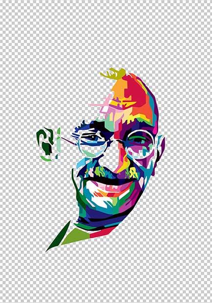 Gandhi brush stroke png