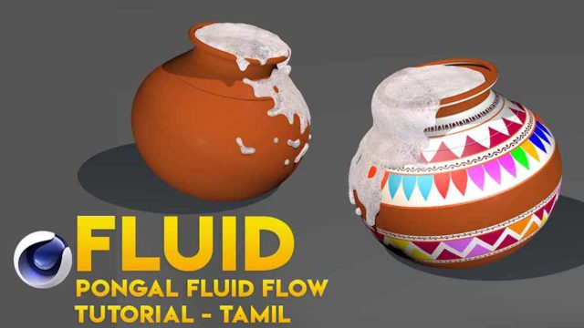 Pongal Pot With real fuid flow