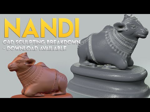 Nandi c4d Sculpting Breakdown- Download Available